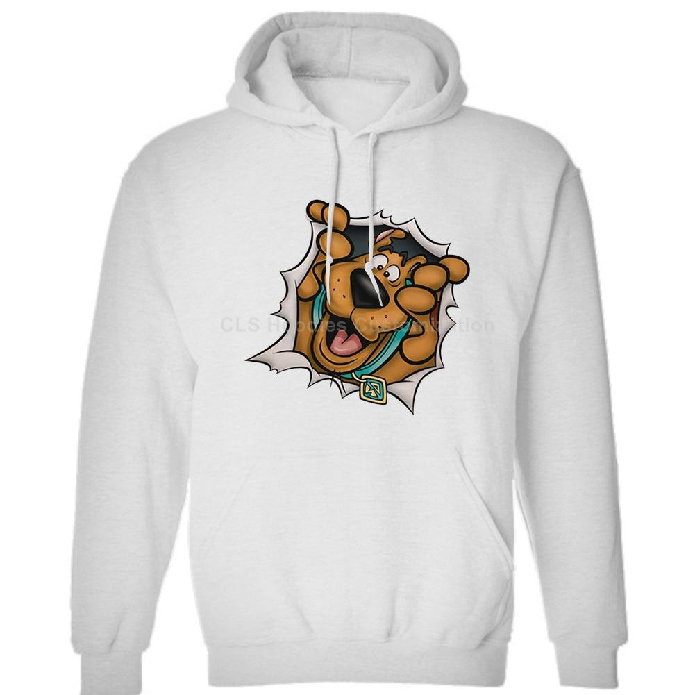Scooby Doo Rip Through Mystery Machine  Mens Unisex (Womens) Winter Hoodies Sweatshirts Free Shipping
