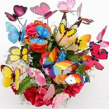 цены fashion 10Pcs Simulation On-Stick Butterfly Ornament Outdoor Home Garden Patio Decor Unfading Vivid Color Realistic Garden Decor