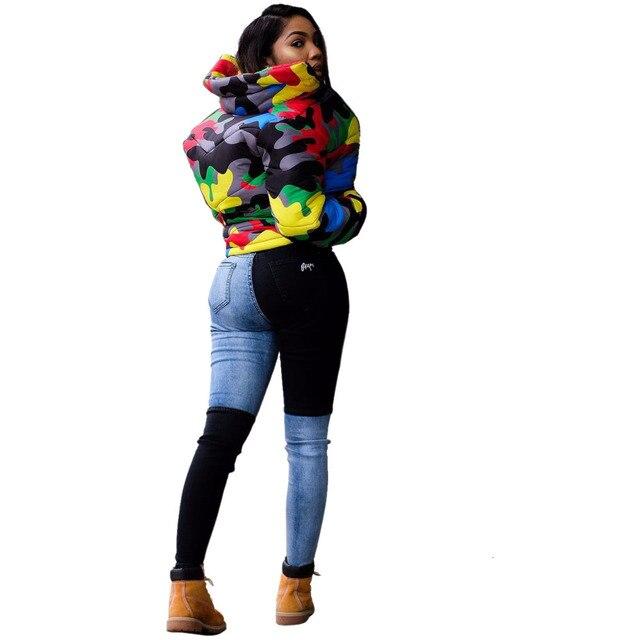 2019 camouflage impression hiver veste femmes Festival chaud Parka bas bulle manteau haut chaud épais Parka Couple porter culture bouffante veste 4XL 4