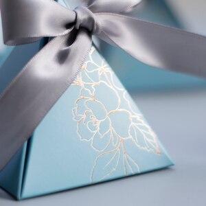 Image 3 - משולש פירמידת סוכריות תיבת חתונה טובה ומתנות קופסות ממתקי שקיות חתונה אורחים קישוט תינוק מקלחת ספקי צד