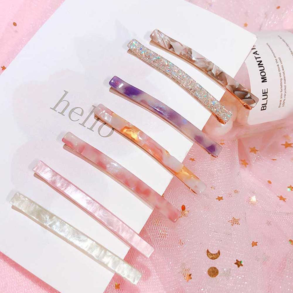 2019 New Women Trendy Resin Acetate Hair Pin Clip Triangle Long Hair Clip Geometric Hairpins Clips Hair Styling Accessories