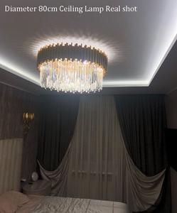 Image 3 - Phube Lighting Gold Crystal Ceiling Light Luxury Modern Bedroom LED Lustres De Cristal Home Indoor Lighting Fixtures