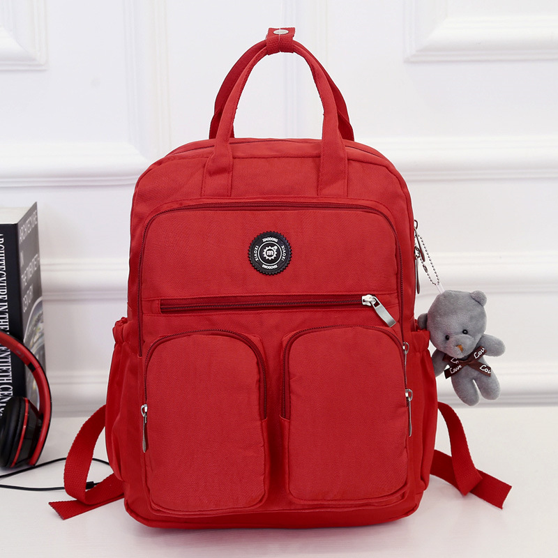 Woman Backpack Travel Waterproof Nylon Mochila School-Bags Soft-Handle Multi-Pocket Fashion