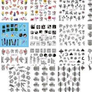 Image 3 - Büyük (1 takım = 11 sayfa) BLE488 498 karikatür prenses Nail Art su transferi çıkartmalar folyo filigran çıkartmaları DIY güzellik tırnak malzemeleri