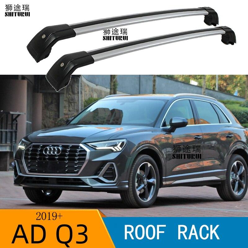 2pcs roof bars for audi q3 5 door suv 2019 2020 2021 aluminum alloy side bars cross rails roof rack luggage carrier