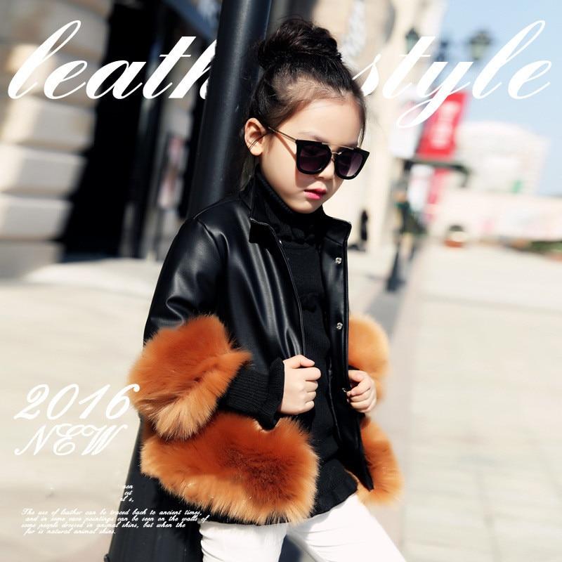 2019 fashion Baby Winter Outerwear & Coats Children's Fur Girls fur Coat Kids Faux Fur Fabric Clothes Fur coat 2-10