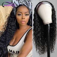 Arándano pelo peruano agua Diadema con ondas peluca pelucas de cabello humano para las mujeres negras 4 30 resaltar pelucas de diadema la máquina
