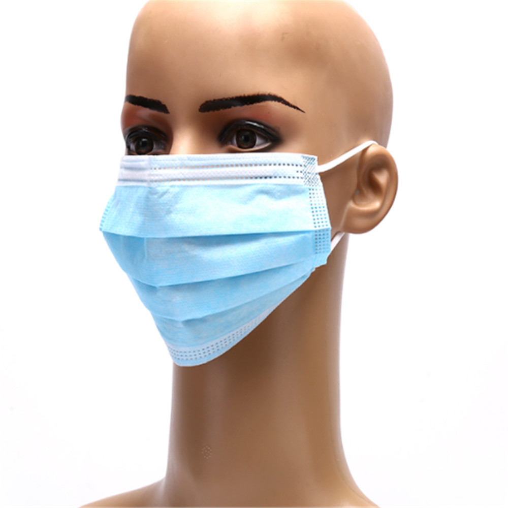 50pcs/pack Non Woven Disposable Face Respirator Mask 3 Layer Earloop Activated Carbon Anti-Dust proof Mouth Mask