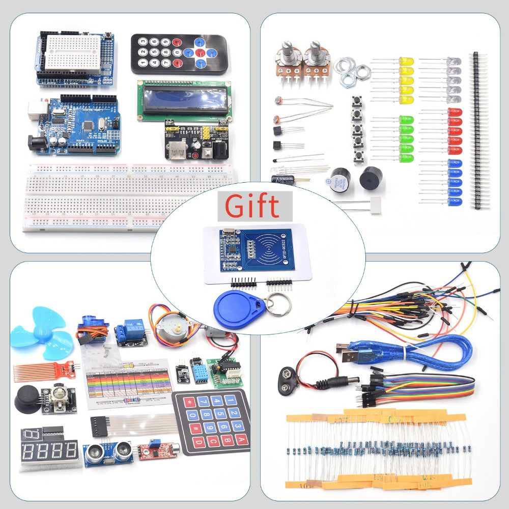 Closeout Deals™Starter-Kit RC522 Arduino Uno Tutorial for Servo/1602 Lcd/uno R3 with And