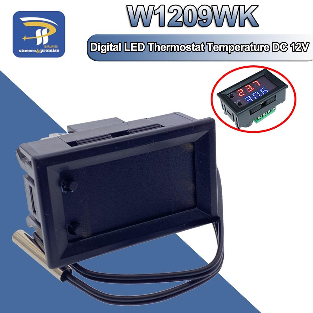 1 шт. W2809 W1209WK W1209 цифровой светодиодный термостат контроллер температуры умный датчик температуры плата модуль 12 В DC + Водонепроницаемый NTC