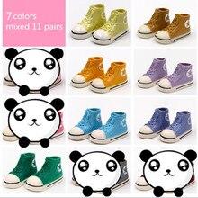 WOWHOT 3,5 cm zapatos de muñeca para Blythe BJD muñecas juguete, 11 pares Casual lindo gimnasio zapatos zapatillas accesorios para muñecas, 7 colores mezclados