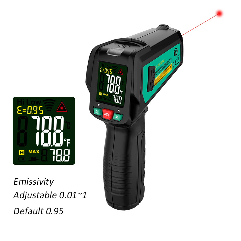 High Precision Non Contact Thermometer with K Probe and LCD Display to Check Body Temperature