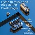 TWS Bluetooth наушники беспроводные наушники с беспроводной зарядкой чехол 3D стерео звук IPX5 Водонепроницаемый Whit зарядка коробка