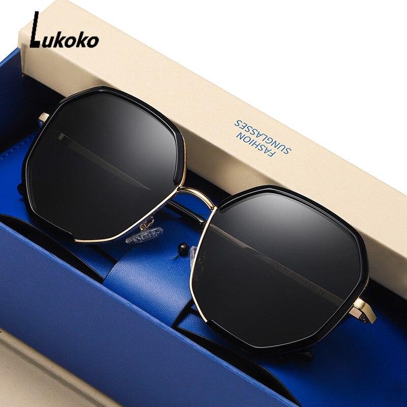 LUKOKO Sunglasses Women 2020 Polarized Fashion Sun Glasses Uv400 Brand Designer Driving Shades For Women Oculos De Sol Feminino