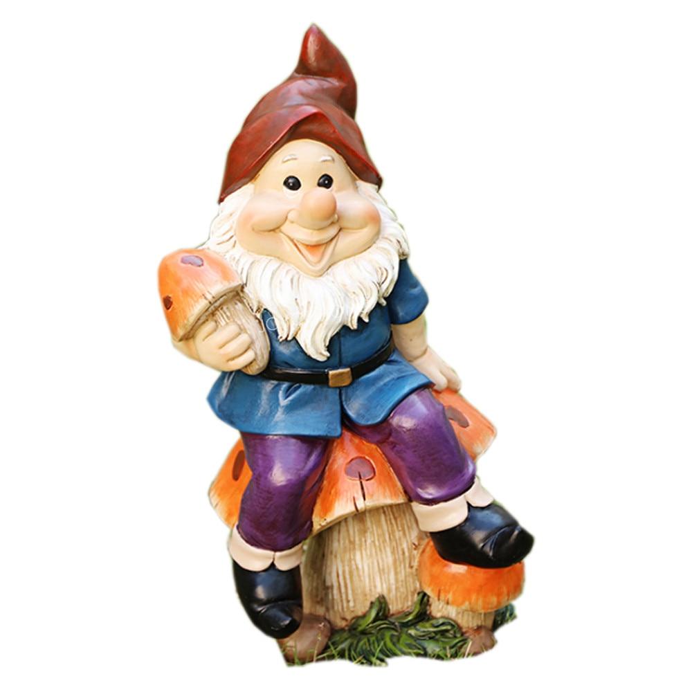 Gnome Statue Garden Ornaments Decorations Gnome Figurine For Garden Sculpture