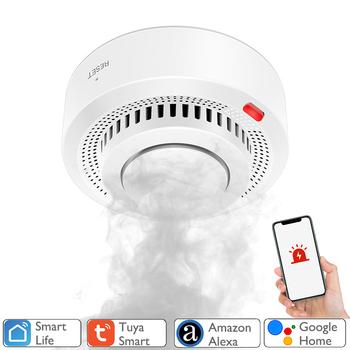 Tuya WiFi czujnik dymu ochrona przeciwpożarowa detektor dymu Smokehouse kombinacja Alarm przeciwpożarowy System alarmowy do domu strażacy tanie i dobre opinie NONE CN (pochodzenie)