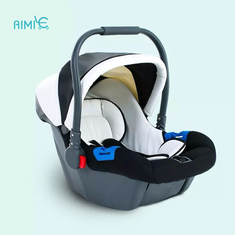 Free Shipping ECE  Baby Basket Newborn Car Seat Car With Baby Cradle Trolley Matching Blue Convertible Car Seat  Booster Seat