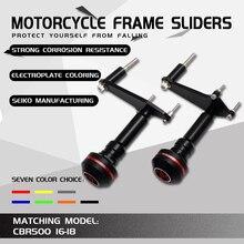 Motorcycle Crash Pad Frame Slider Falling Protection For CBR500R CBR 500R CBR500 2016 2017 2018 Side Stand Enlarger Plate brake