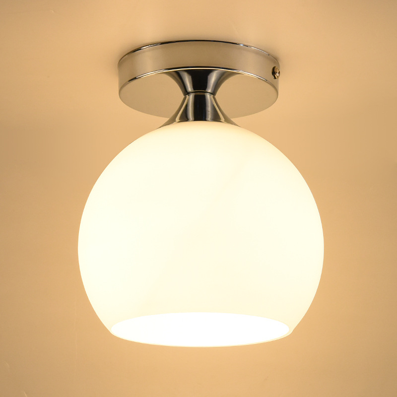 Modern Minimalist Hallway Ceiling Lamp Nordic Balcony Entrance Corridor Kitchen Creative Engineering Glass Ceiling Lamp