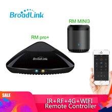 Broadlink RM pro + RM MINI3 evrensel akıllı uzaktan kumanda akıllı ev otomasyonu WiFi + IR + RF anahtarı IOS Android telefon