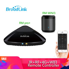Broadlink controle rm pro + rm mini3 universal, controle remoto inteligente para automação residencial, wi fi, ir, interruptor rf celular ios e android