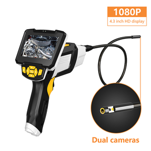 """Image 2 - Portable Dual Lens Handheld Endoscope 4.3""""Screen Inspection Camera with 6 LED 8mm Industrial Digital Endoscopy With 32GB TF Card"""