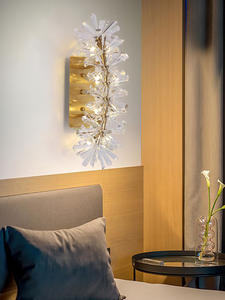 Lighting Wall-Lamp Wall-Sconces Crystal Chrome Living-Room Fixtures Bedside Bedroom Home-Decor