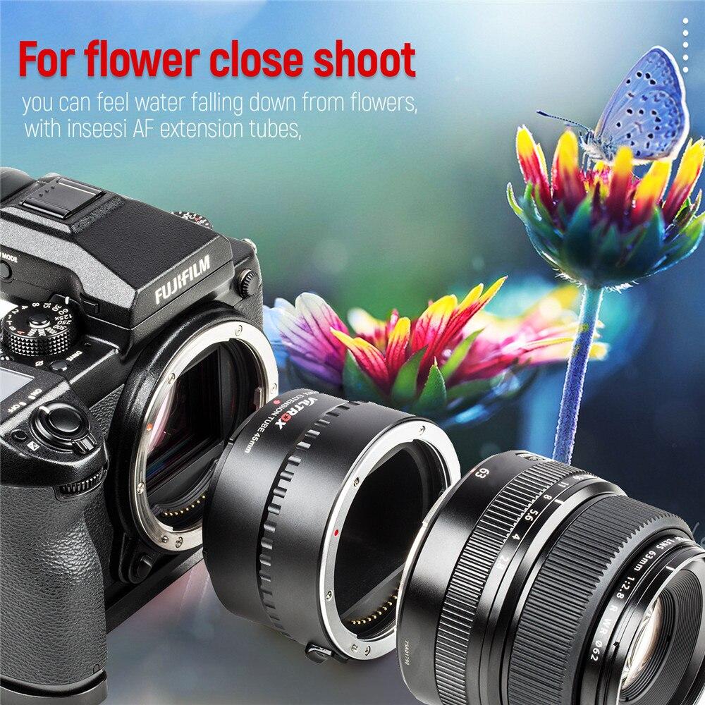 Viltrox DG-GFX 45mm monture métal Auto Focus AF Macro rallonge Tube anneau pour Fuji GFX 50S 50R GFX montage caméra moyen Format