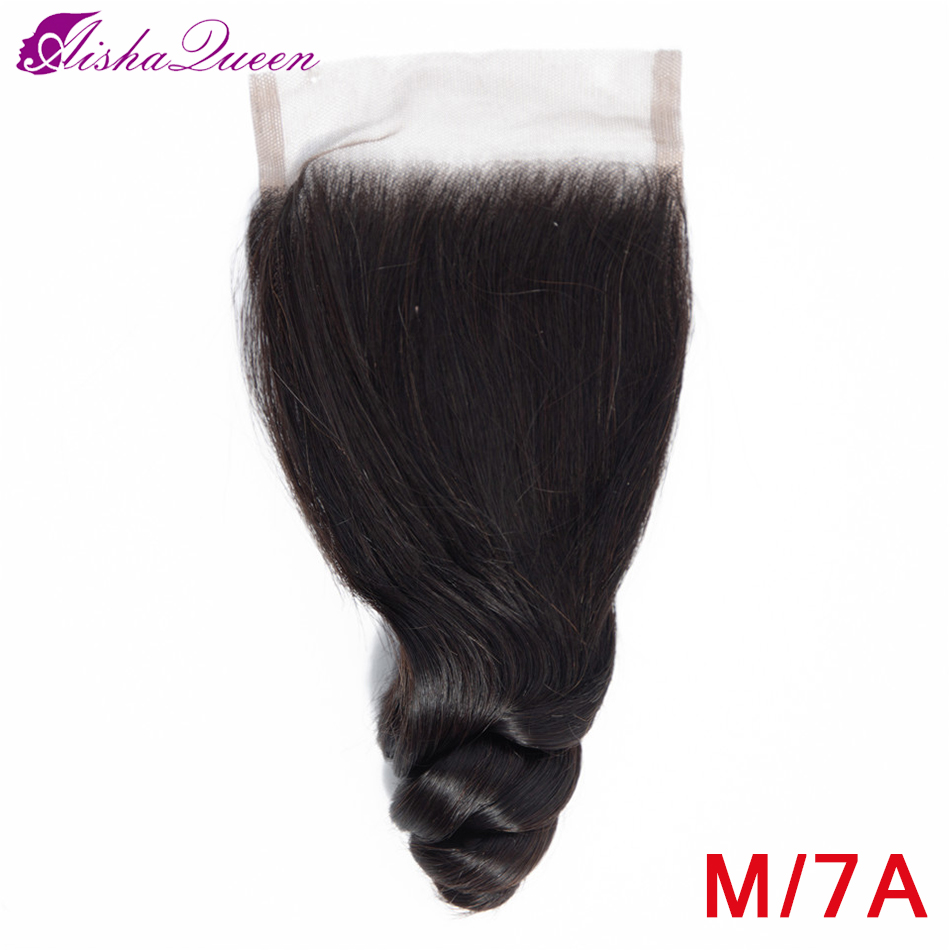 Aisha Queen Hair Brazilian Loose Wave Closure 8-20