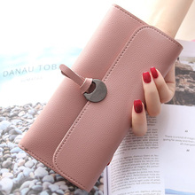 2019 New Fashion Women Long Wallets High Quality PU Leather Women's Purse and Wallet Design Lady Party Clutch Female Card Holder fashion style women s clutch with rivets and pu leather design