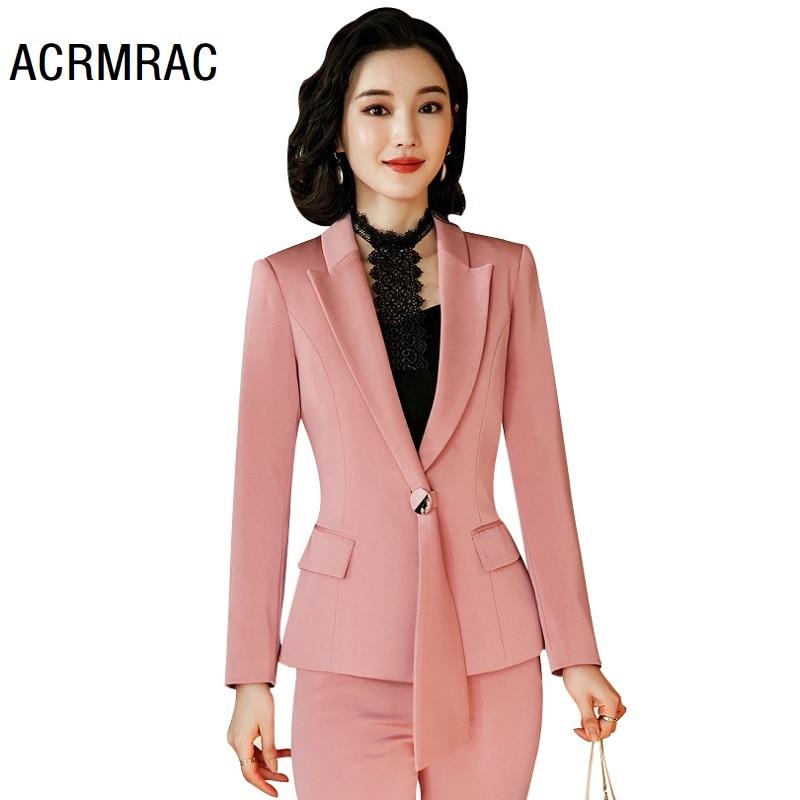 Women Suits Spring Long Sleeve Blazers Pants Office Lady Formal Work Clothes Women Pants Suits Woman Set Suits 2021