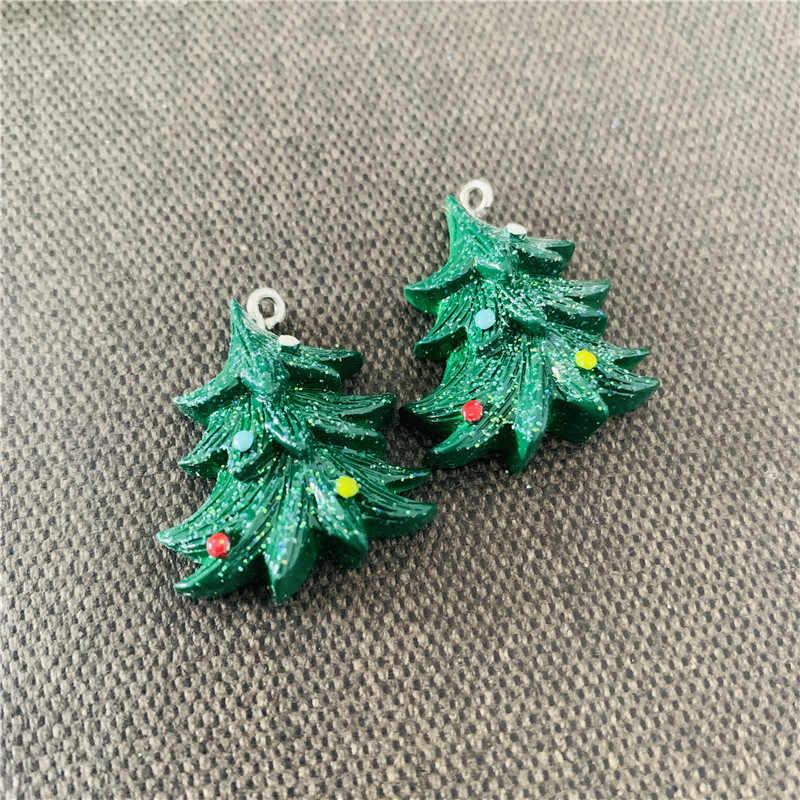 Dupla Árvore de Natal Bonito Pano de Algodão Da Menina Das Crianças Crianças Colar & Pendant Cadeia de Acessórios de Moda Jóias de Presente de Natal