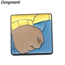 P2596 Dongmanli кулак Артура металлические эмалированные булавки и броши для женщин и мужчин Нагрудный значок для рюкзака подарки