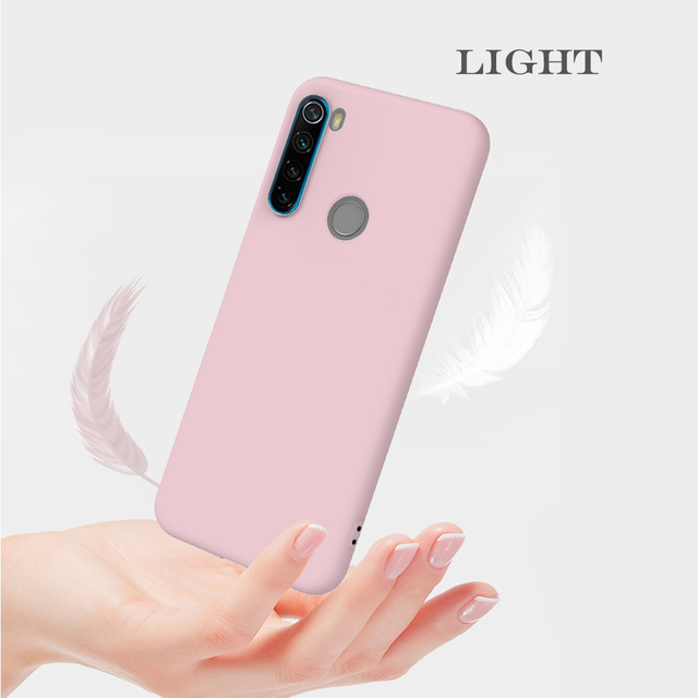 Candy Solid Color Soft Silicone Case For Xiaomi Redmi Note 8T 8 7 7A 6 6A 5 Pro Soft TPU Matte Phone Cover For Redmi Note 9 9S 4