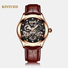 Super Mechanical Sense, Edgy Hollow นาฬิกานาฬิกา,KINYUED,ล่าสุดกันน้ำแฟชั่นผู้ชายส่องสว่างอัตโนมัตินาฬิกา