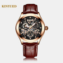Super Mechanical Sense, Edgy Hollow Watch Disc, KINYUED, The Latest Fashion Waterproof Luminous Mens Automatic Mechanical Watch