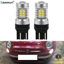 KAMMURI (2) безошибочные белые светодиодные лампы T20 W21/5W 7443 для Fiat 500 2009 - 2016 светодиодный ные дневные ходовые огни лм