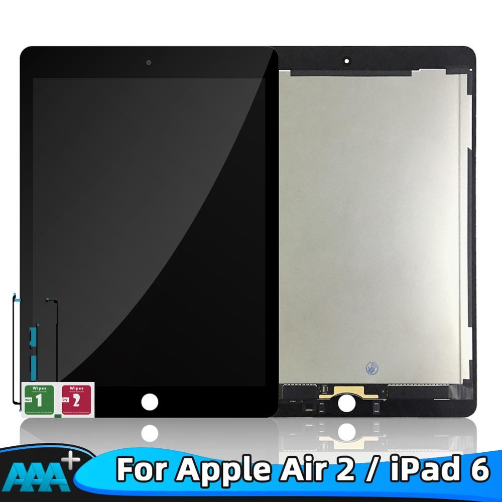 LCD pour Apple iPad 6 Air 2 A1567 A1566 9.7 ''100% AAA + Grade LCD écran tactile numériseur assemblée pièces de rechange