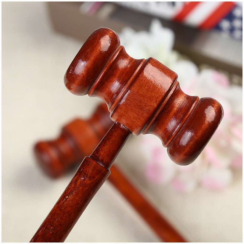 1pc Mini Hammer Lawyer Decoration Hammers Judge Hammer Wooden Hammer Wood Multitool Small Hammer Birthday Gift Christmas Toy