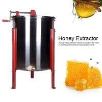 52x78cm 스테인레스 스틸 4 프레임 꿀벌 꿀 추출기 수동 꿀 원심 분리기 양봉 장비 양봉가 도구