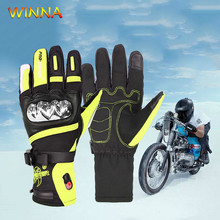 1 Pair Winter USB Heating Gloves Snowboard Heated for Motorcycle Bicycle Ski Touch screen Electric Thermal