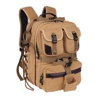 Hot Sale Canvas Digital Large Dslr Camera Bag Waterproof Professional Camera Travel Photo Double Shoulder Backpack Bag