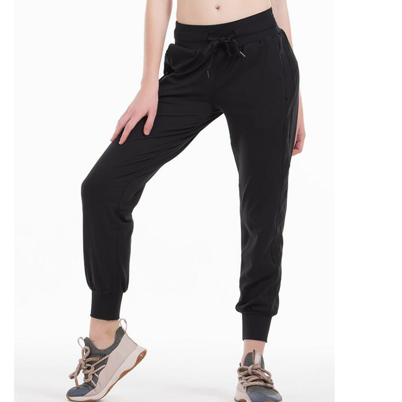 2020 Women Stretch Thick Fabric Sport Pants Ankle-Length Pants
