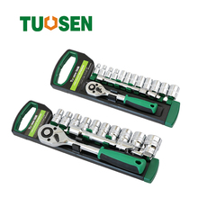 13/15PC Auto Socket wrench set 1/4 1/2 ratchet tool torque spanner ratchets wheel spanners of tools wrenches car repa