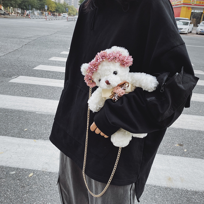 Fashion Bags For Women 2019 Brand New Little Bear Plush Bag Handbags Messenger Bags Cartoon Cute Shoulder Bags Crossbody Bags