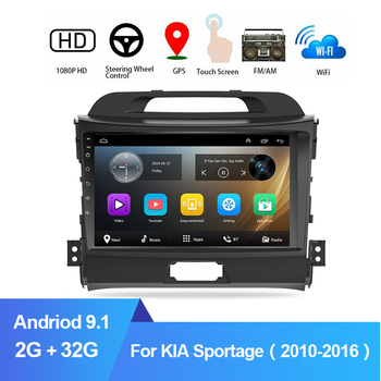 2 din Car GPS Navigation Radio Multimedia Player For KIA Sportage 3 2010 2011-2016 9 Android 9.1 Autoradio Stereo Video Player image