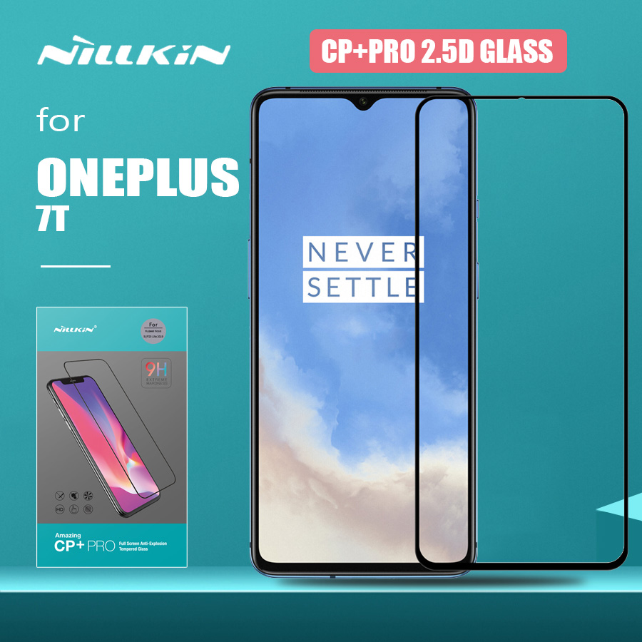 Для Oneplus 7T стекло Nillkin CP + Pro Полное покрытие ультра-тонкий 2.5D One Plus 7T закаленное стекло Защита экрана для Oneplus 7T стекло
