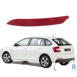 Rear Bumper Reflectors Lights For Skoda Rapid Spaceback 2013-2019 Warning Lamps Stop Lamps Brake Lights