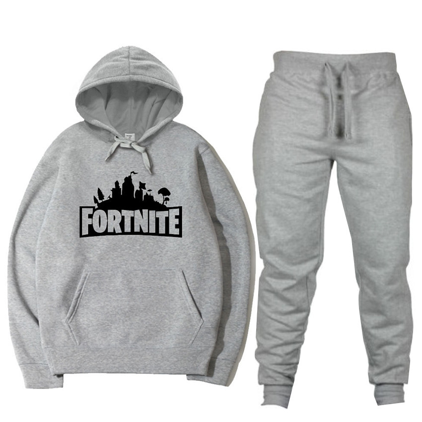 2019 New Style MEN'S Suit Fortress Of Night Fashion Printed Hoodie Casual Gymnastic Pants Set