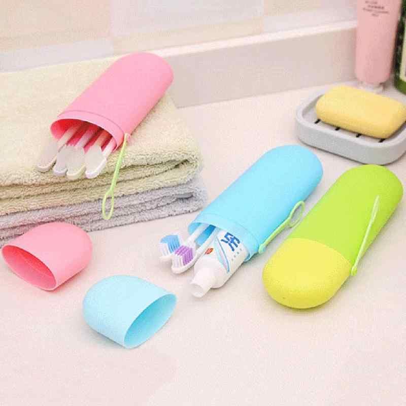 휴대용 칫솔 케이스 하이킹 캠핑 보호 스토리지 박스 치약 컵 카트리지 수호자 욕실 야외 스토리지 제품
